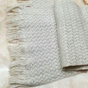 Vintage neutral metallic crochet scarf